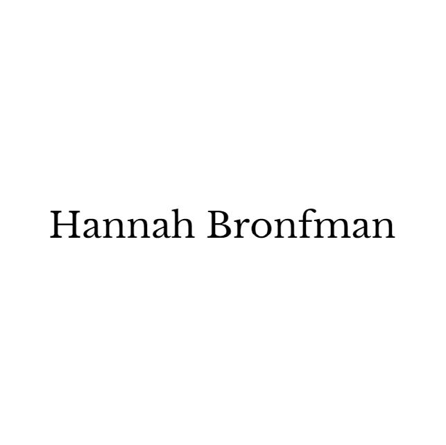 Hannah Bronfman